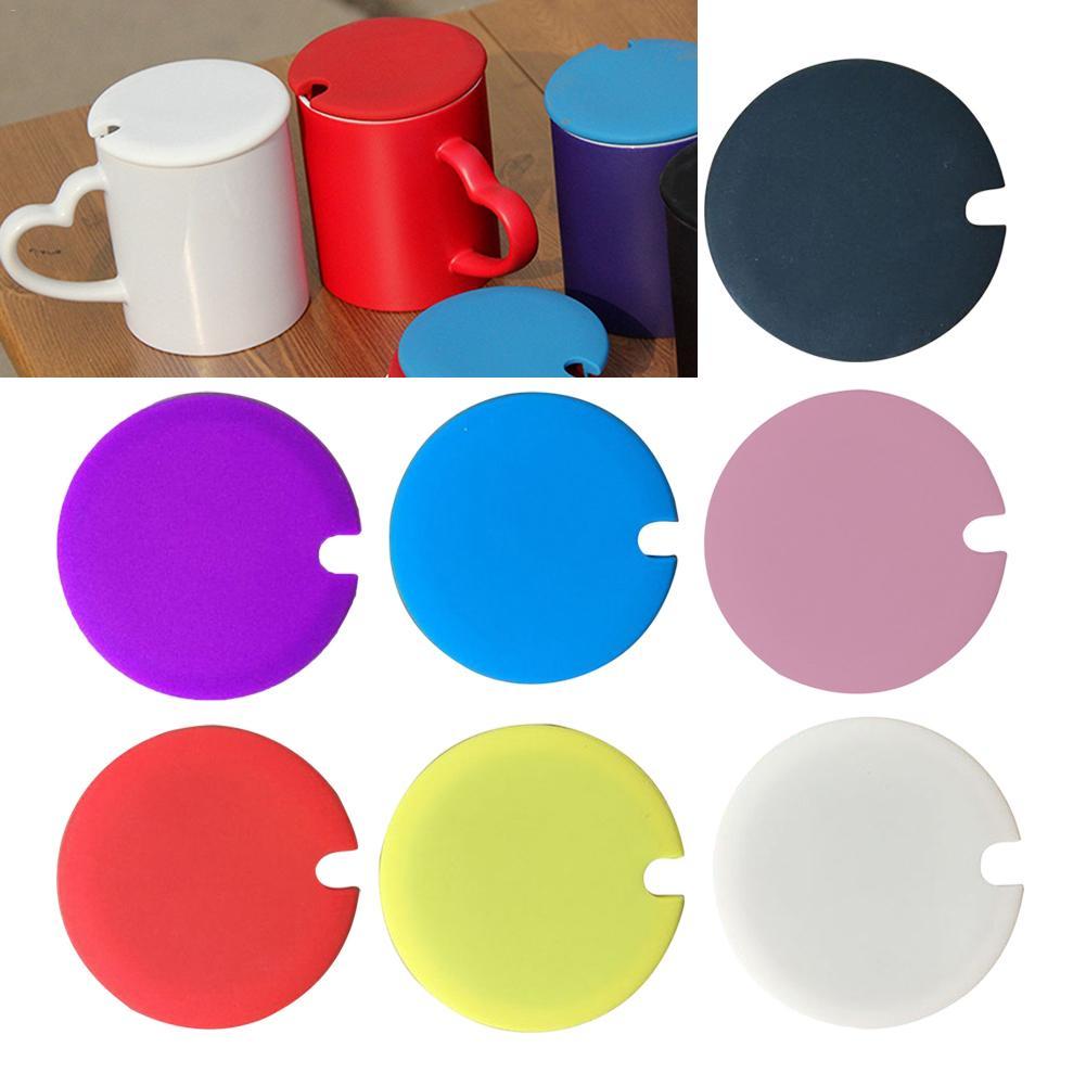 Taza de agua tapa de la taza de silicona Anti-polvo de la cubierta de cuenco taza de vidrio tazas de resistente al calor, A prueba de polvo taza de té funda para tapa con un poco