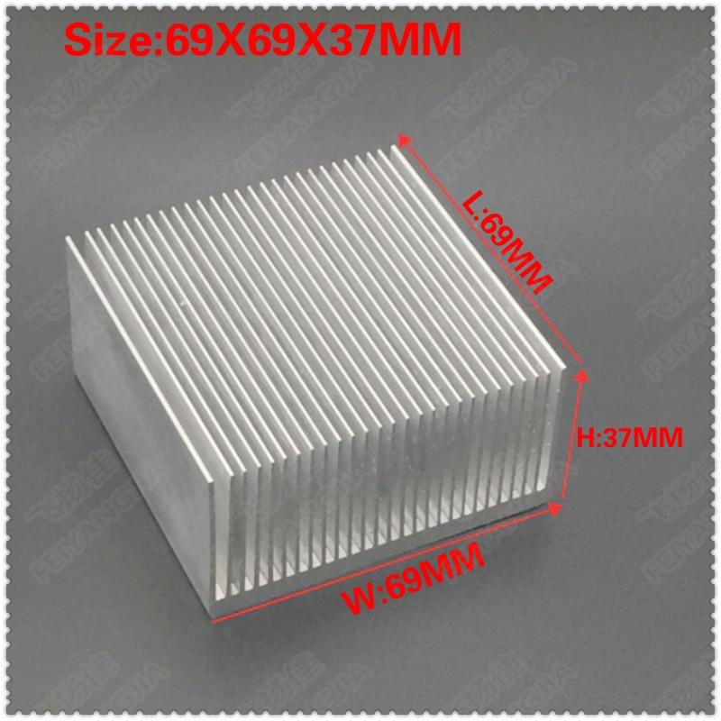 Светодиодный электронный радиатор 69x69x37 мм 1 шт. мощные радиаторы светодиодный радиаторы вентилятор радиаторы выключатель питания алюминие...