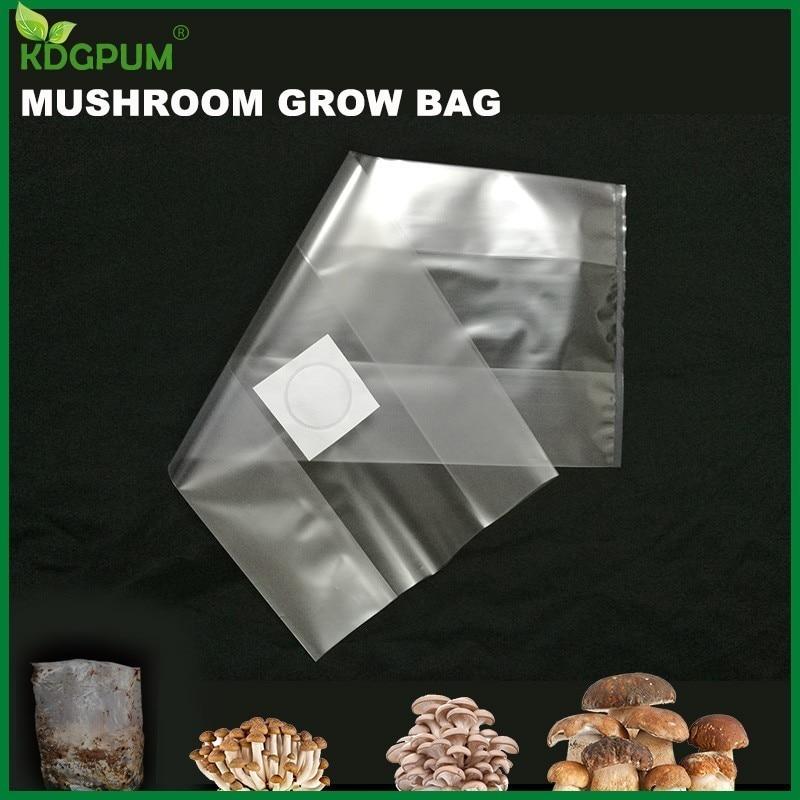 Bolsa de PVC 6/8 para cultivo de hongos, sustrato de alta temperatura, bolsa de ventilación para hongos comestibles presellable, suministros agrícolas para jardín