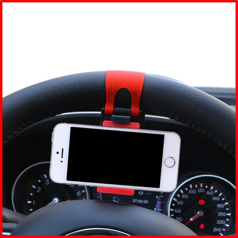Soporte de teléfono móvil para volante de coche de 1 pieza para Nissan TIIDA X-TRAIL Qashqai Skoda Octavia Fabia HYUNDAI IX35 Ford Focus