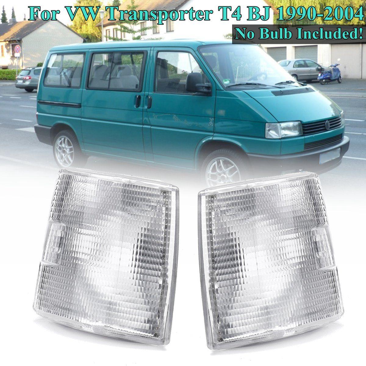 1 par de lâmpadas de sinal de luz de canto frontal, lâmpadas de sinal para vw transformador t4 1990 1991 1992 1993 1994 1995 1996 1998 1999 ~ 2004