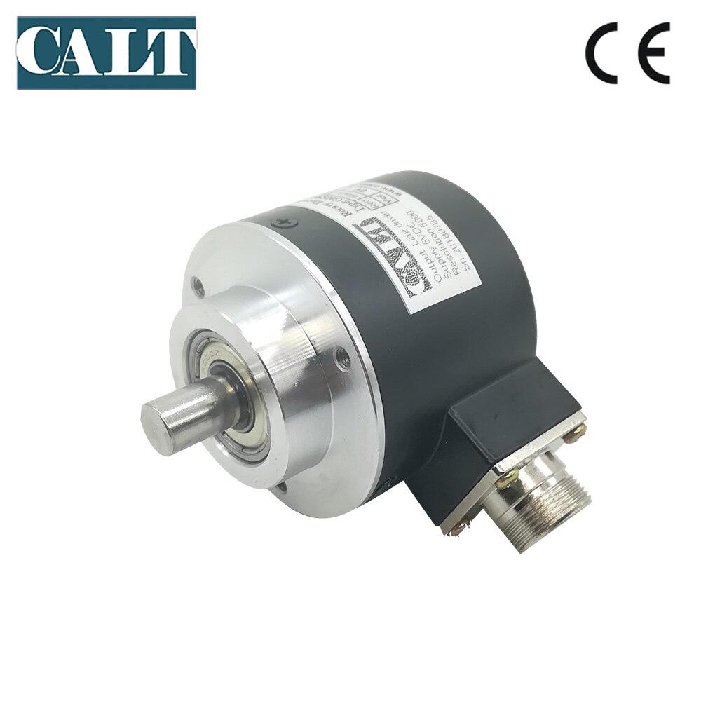 Codificador óptico incremental de eje sólido de 10mm CALT de salida NPN, codificador de enchufe aeronáutico de bajo precio