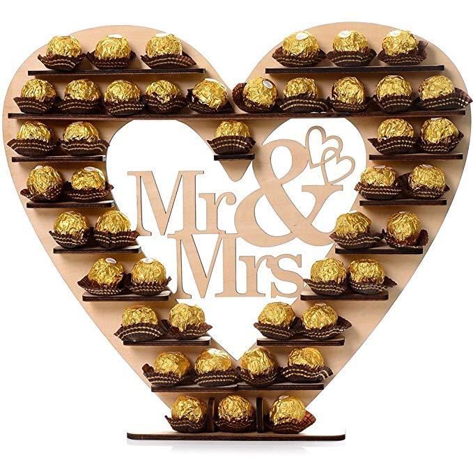 Wedding Decoration Mr&Mrs Heart Tree Wedding Display Stand Centrepiece Wedding Decor Chocolate Tree Ferrero Chocolate Stand