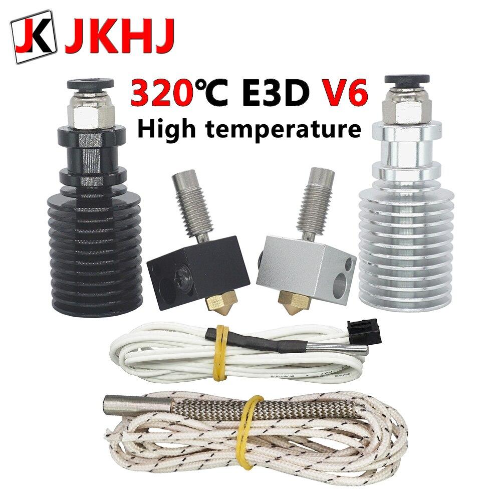 Piezas de impresora 3D 0,4/1,75mm E3D V6 Hotend Kit versión de alta temperatura 320 grados j-head extrusora remota 12V 24V hot end