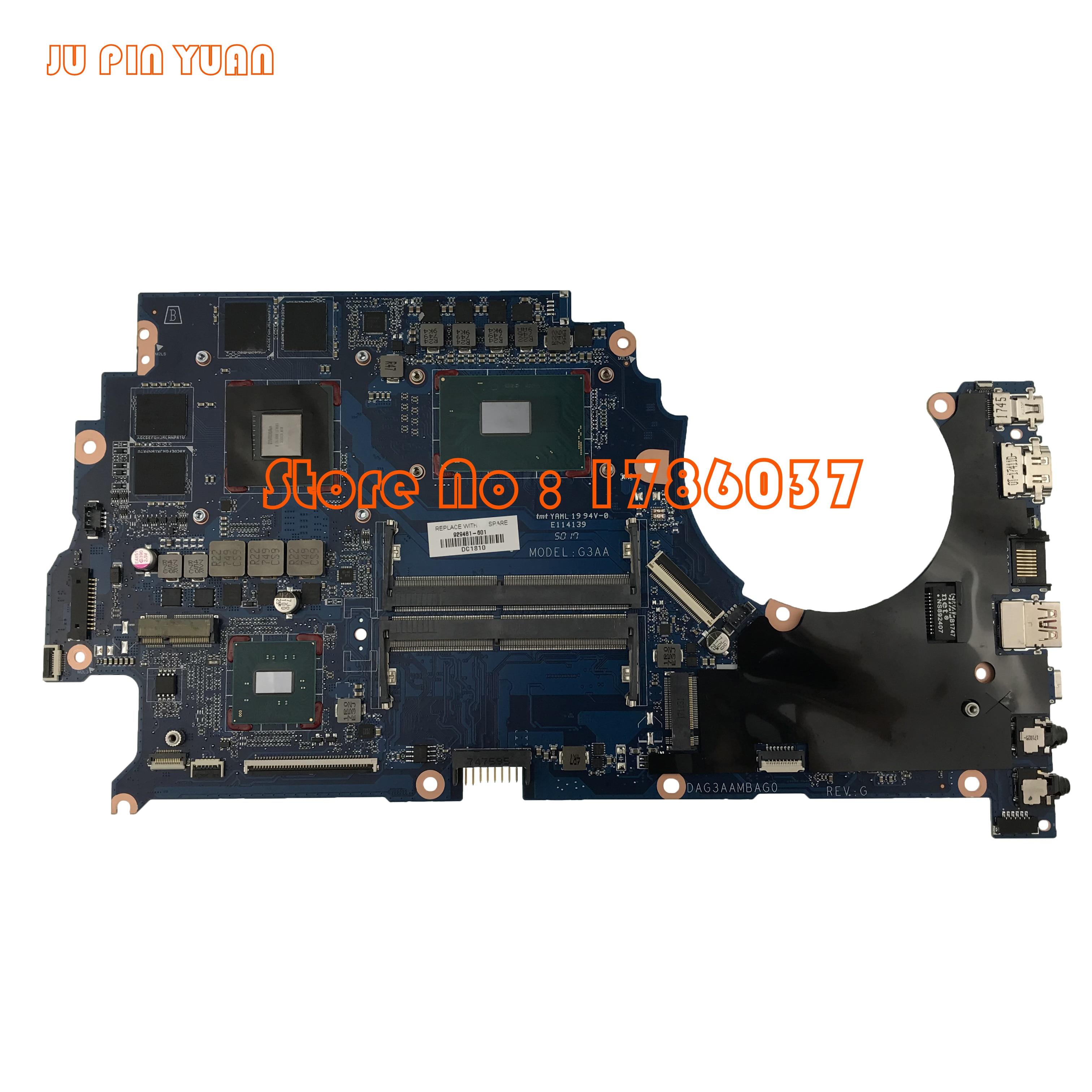 929481-001 929481-601, 929481-501 DAG3AAMBAE0 para HP Qmen TPN-Q194 15-CE 15T-CE placa base de computadora portátil withGTX1050Ti 4GB i7-7700HQ