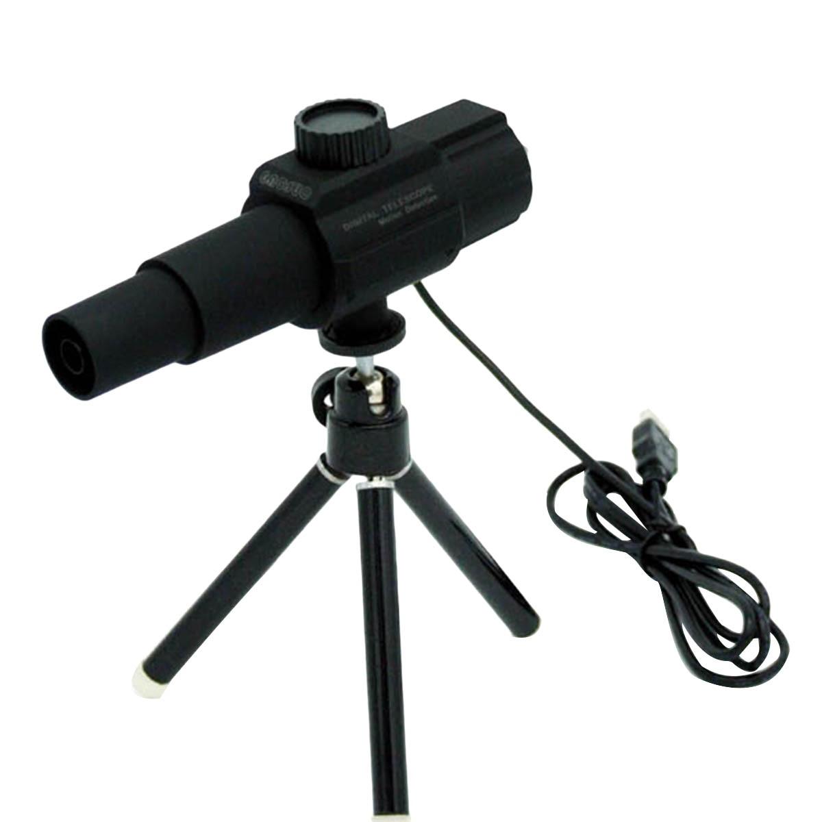Telescopio Digital portátil de bolsillo USB 70x con trípode para detectar conciertos (negro)
