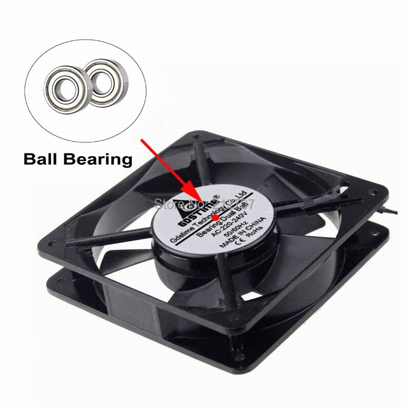 1pcs AC 220V 240V 12cm 120mm Two Ball Bearing 120mm x 25mm AC Axial Cooling Fan Indsutry Cooling Cooler Fan