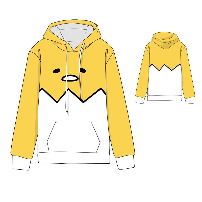 Caliente Anime Gudetama Cosplay sudaderas con capucha estándar invierno Tops Unisex miku sudaderas divertidas