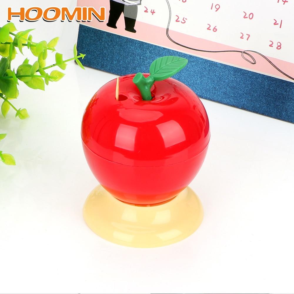 Hoomin automática caixa de palito tipo imprensa titular palito frutas maçã forma plástico decoração para casa