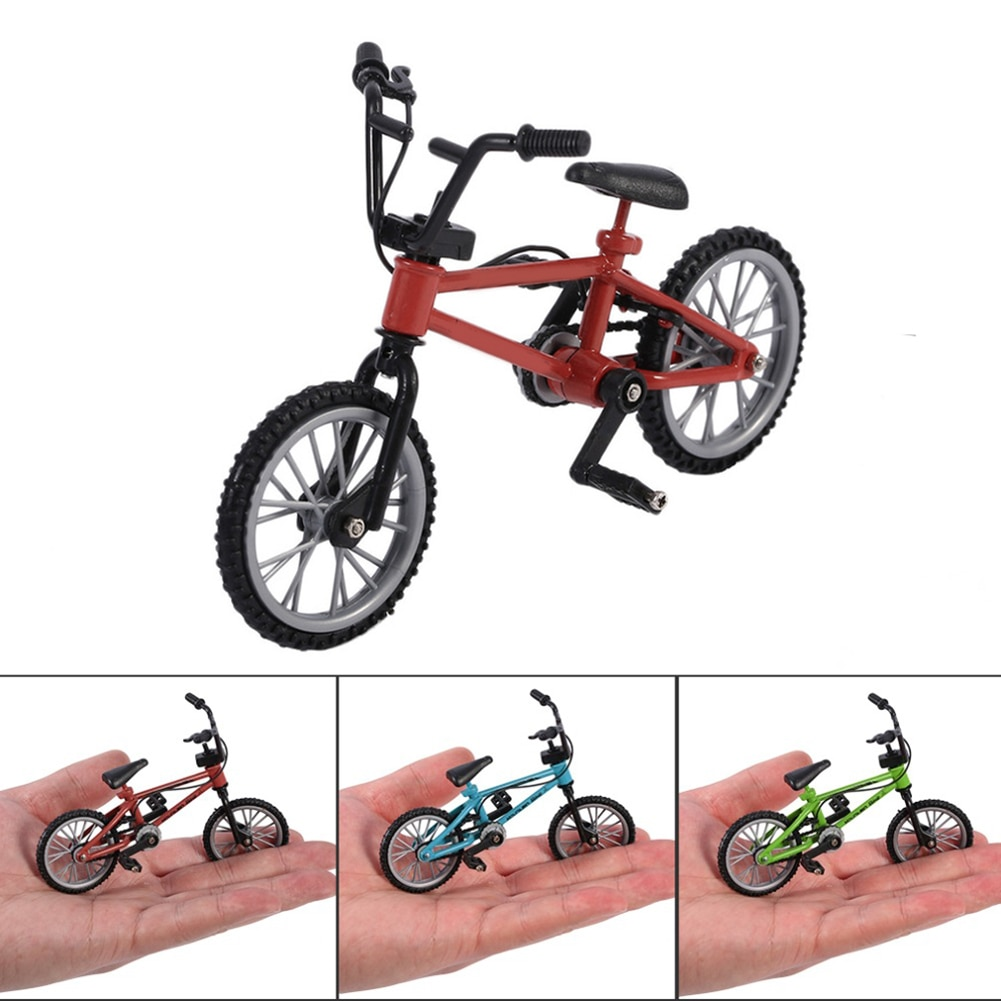Finger Bike Functional Nini Mountain Sport Bike Miniature Metal Toys Game For Kids Boys Red 1PC