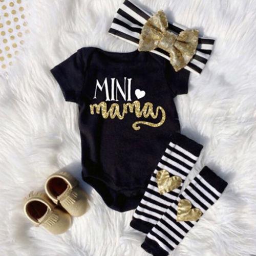 Roupa Das Meninas Do Bebê recém-nascido Romper Topos Headwear Ankle Scoks Conjunto