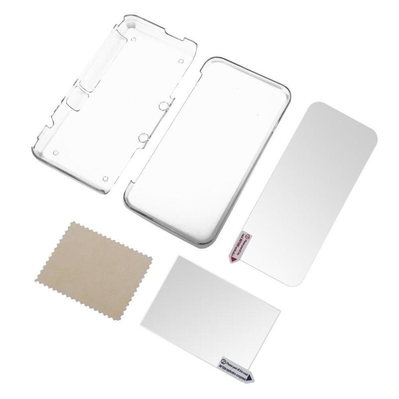 Para 2DS XL funda protectora transparente + película de pantalla Protector de pantalla LCD para Nintendo 2DS nuevo XL funda de alta calidad