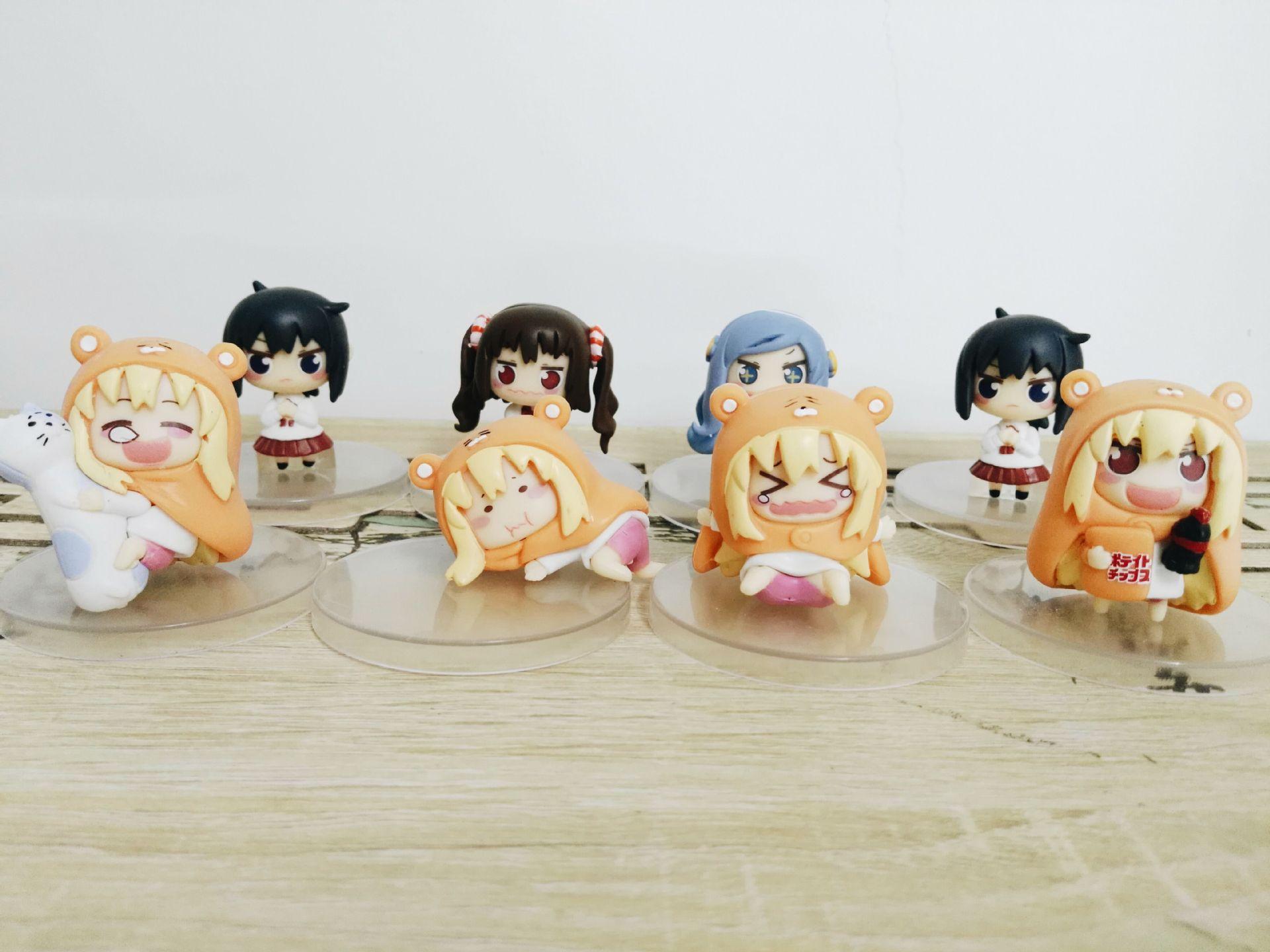 8 unids/set lindo figura de acción GSC Himouto Umaru-chan Umaru doma Motoba Kirie Nanan Ebina 6 ~ 8cm modelo de PVC Q Ver muñeca Anime japonés