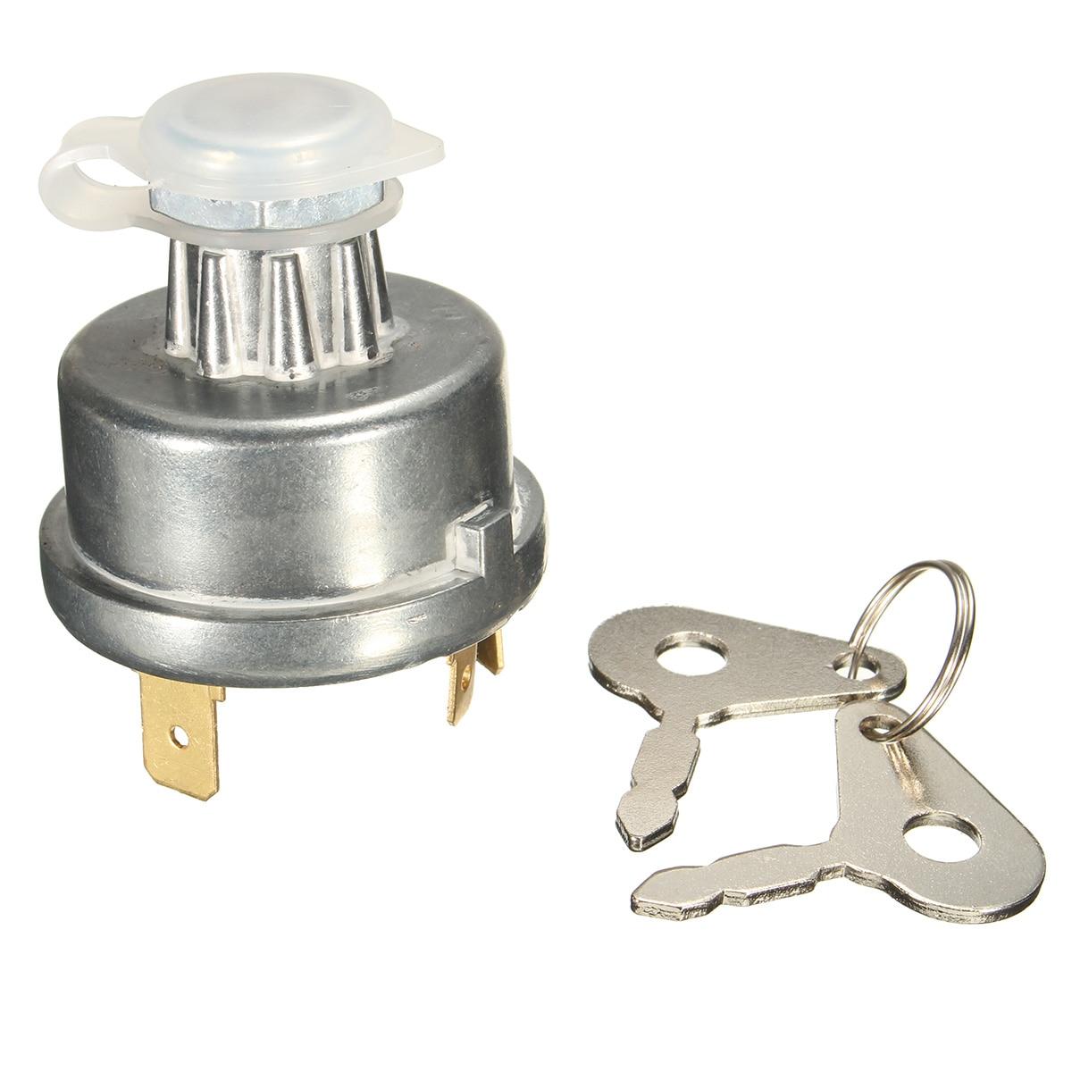 Interruptor de ignição do trator universal starter com 2 chaves para o caso ih david brown landini leyland para marshall massey ferguson nuffield