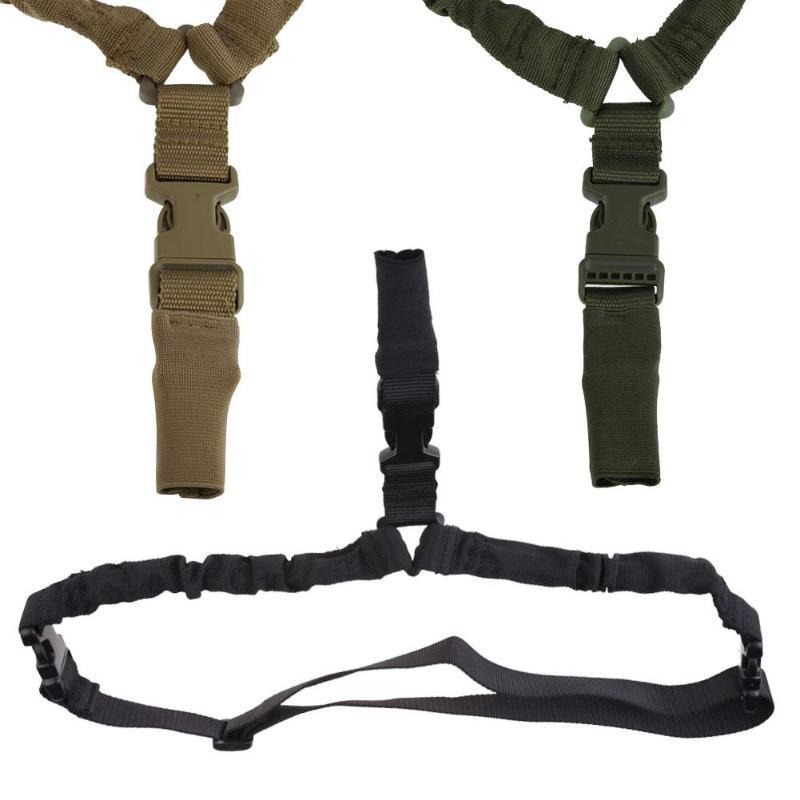 1000D pesado deber táctico 1 punto Sling cuerda elástica ajustable pistola Rifle Sling Correa militar Airsoft caza 3 colores