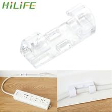 HILIFE 20 pièces/lot solide ligne pince USB cordon Clips support organisateur fil fixation pince pince fixe fil câble Clips