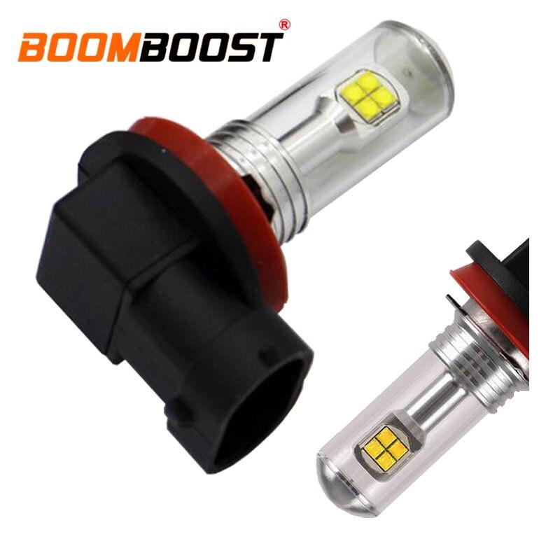 BoomBoost one pair H11  12V 24V car fog Light led for car white lights 80w high power led bulb the discount price sale