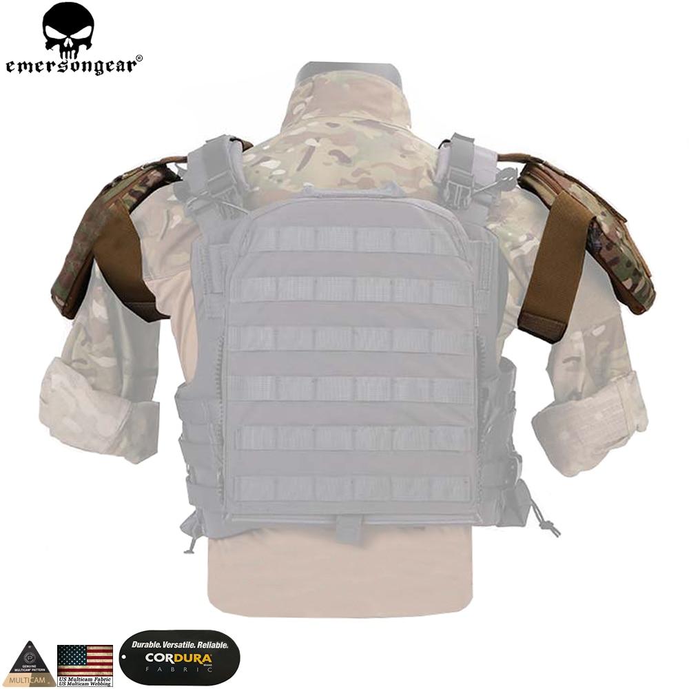 Emersongear táctico armadura de hombro caza AVS chaleco CPC accesorios de hombro Protector armadura bolsa Multicam EM7331