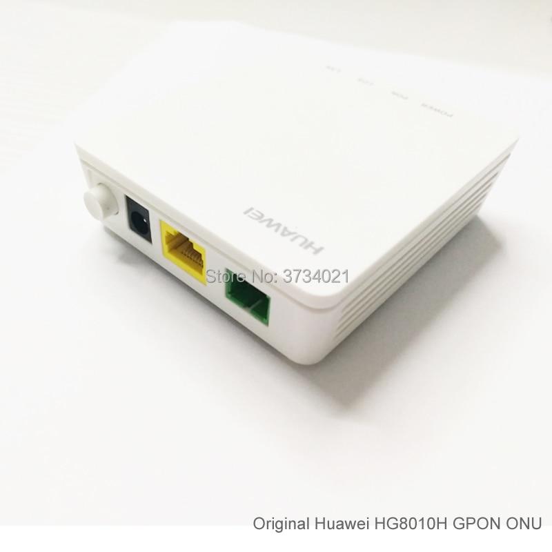 50 Uds nueva Huawei EcoLife HG8010H GPON Terminal ONT unidad de red óptica Firmware inglés con adaptador de corriente, sin caja única