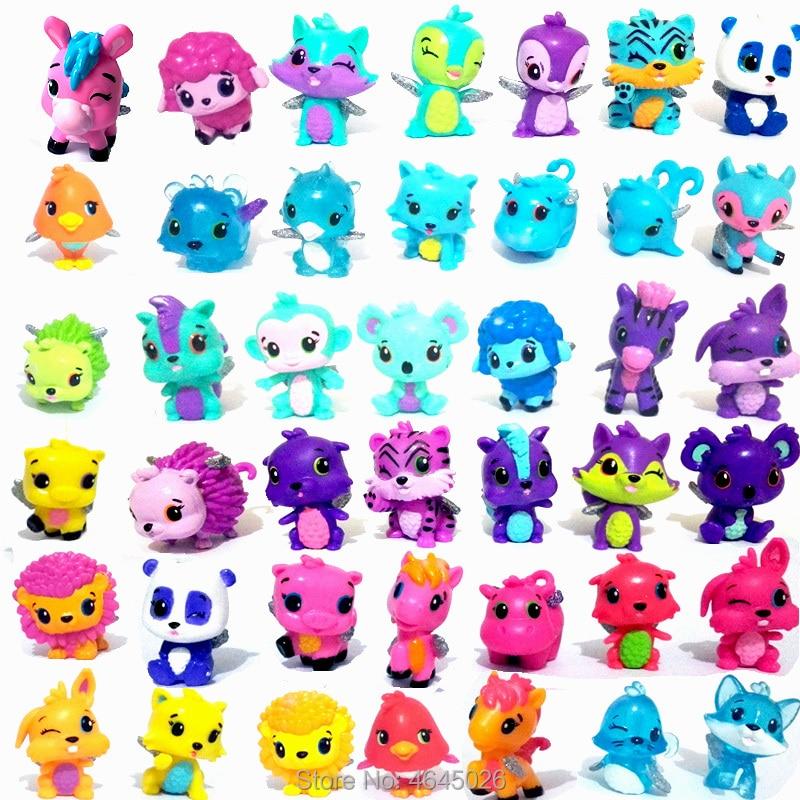 Cartoon Animals Egg Horse Hatching Model Miniature PVC Action Figures Mini Pet Shop Figurines Collectible Dolls Kids Toys