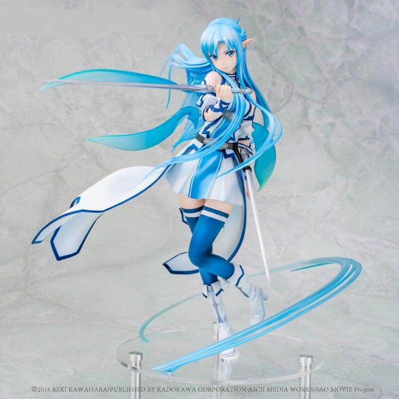 Anime Sword Art Online Asuna Yuuki Water Spirit kirito y Asuna figura PVC colección de figuras de acción modelo niños juguete para niños regalos