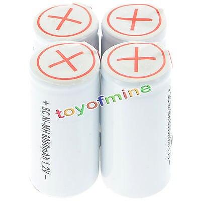 4-20 piezas SubC 1,2 V Ni-MH Color blanco con Tab 6000mAh batería recargable