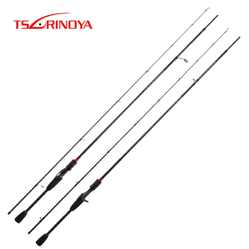 Tsurinoya nova vara de pesca carbono hacker ul l ml m mh potência fuji guia anéis acessórios ultra leve pesca isca vara
