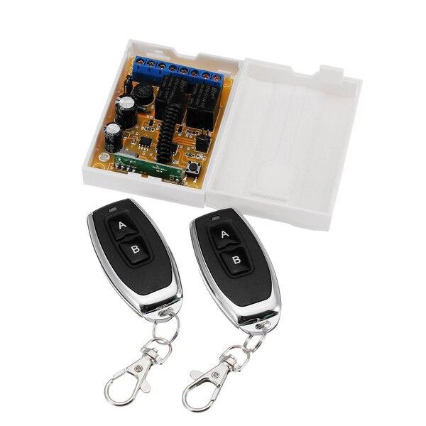 LEORY 100M interruptor de luz de Control remoto inalámbrico 12V 10A Relé 2 uds 315Hz TRANSMISOR DE RF + 2CH módulo receptor controles remotos