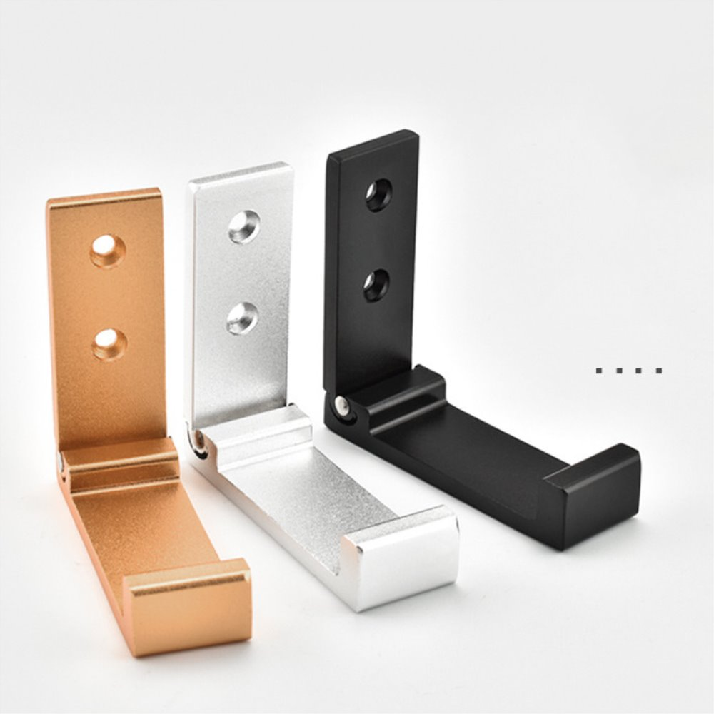 Multi-propósito ganchos negro oro, plata, aluminio de aleación de perchas escondido Rack baño cocina pared del dormitorio montado plegable ganchos