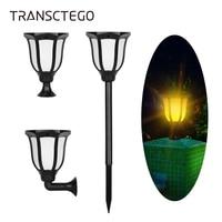 LED Solar Torch Light Flame Waterproof Outdoor Lantern Lawn Lamp Post Lights Sensor Flickering Solar Lamp For Garden Decoration