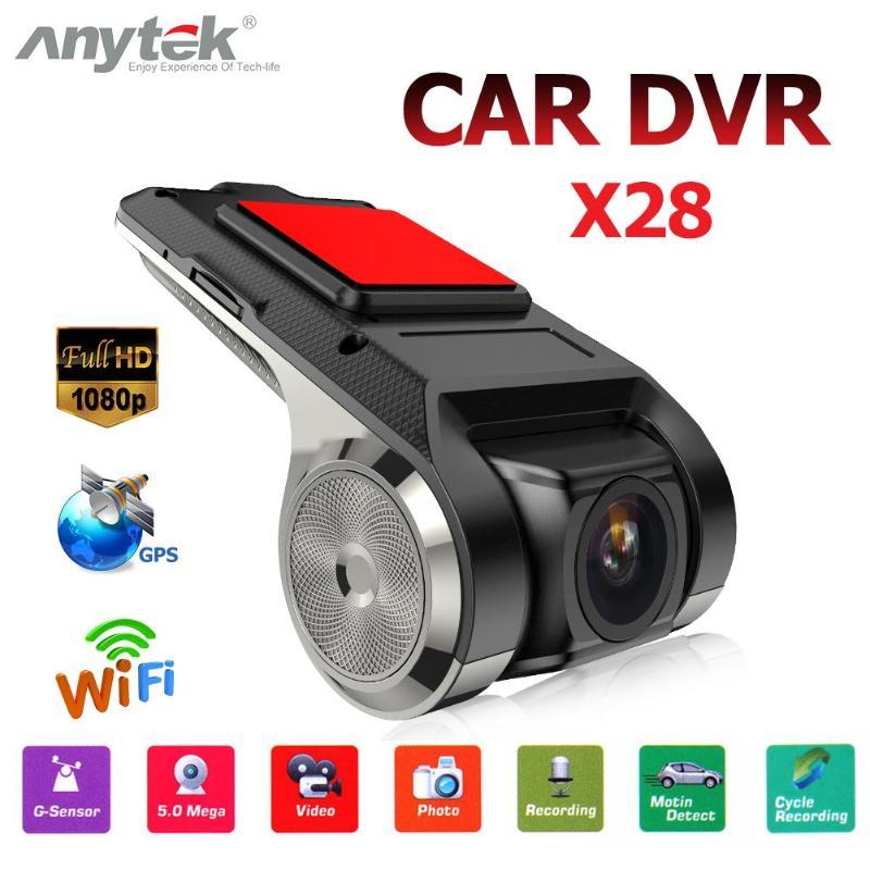 Mini Anytek X28 Car DVR Camera Full 1080P HD Auto Digital Video Recorder Camcorder WiFi ADAS G-sensor Dash Cam DVRs Logger
