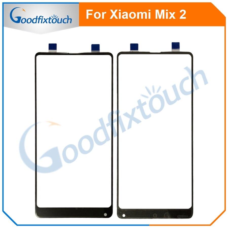 Panel táctil de cristal para Xiaomi Mix 2 Mi Mix2, Panel frontal con Sensor táctil, partes de repuesto para Xiaomi Mix2 MiMix2