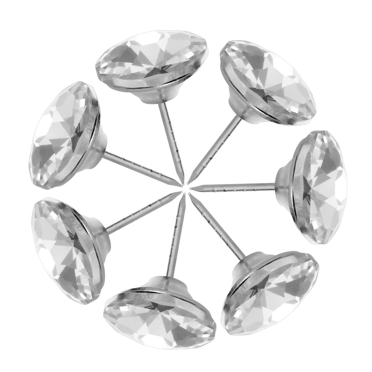 Botones de cristal para sofá de 20 piezas, forma de diamante, cristal duradero, de 25mm tachuelas, botones para coser, botones para decoración de pared del sofá