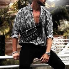 INCERUN décontracté hommes imprimer à manches longues Style ethnique mode Tropical hommes plage hawaïenne chemise ample marque chemises Camisa 2020