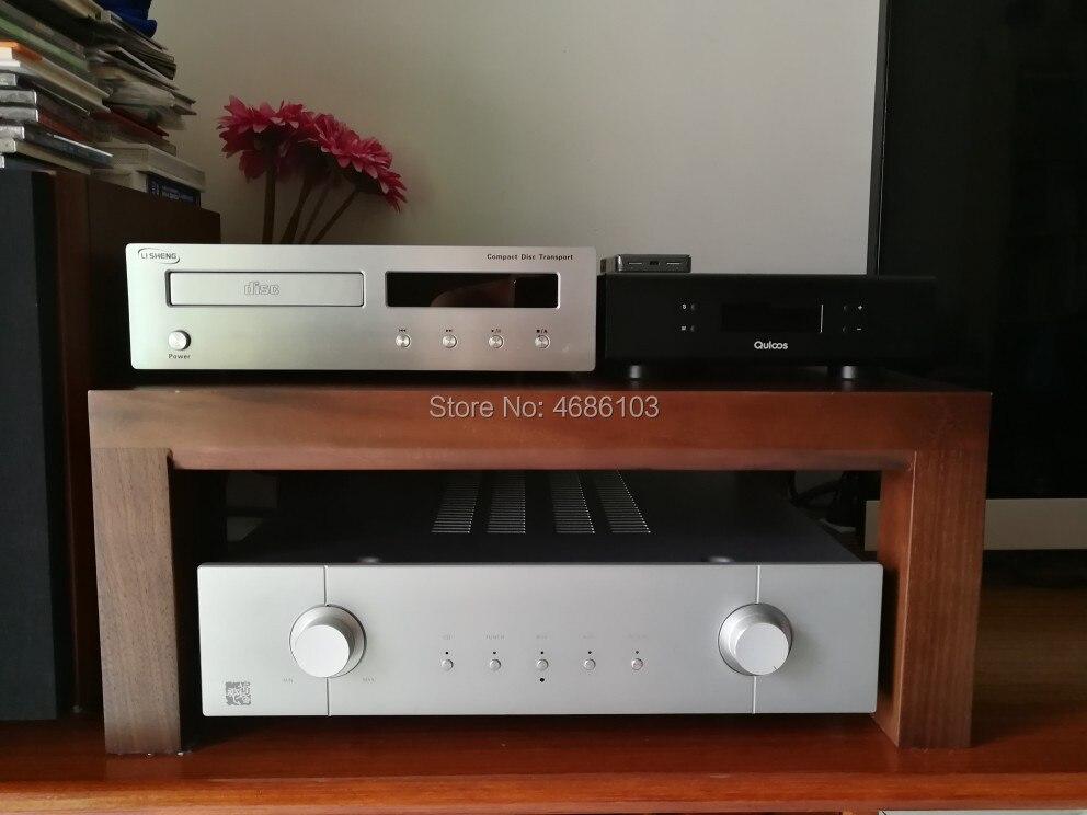 Новый Классический аудио шкаф из орехового дерева, аудио полка для дома, Hi-Fi стойка, медиа компонент, полка, ТВ шкаф