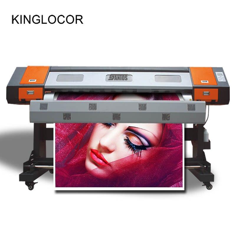 Impresora solvente ecológica de 1800mm, plotter de impresora individual xp600, cabezal de impresión, envío gratis, certificado CE