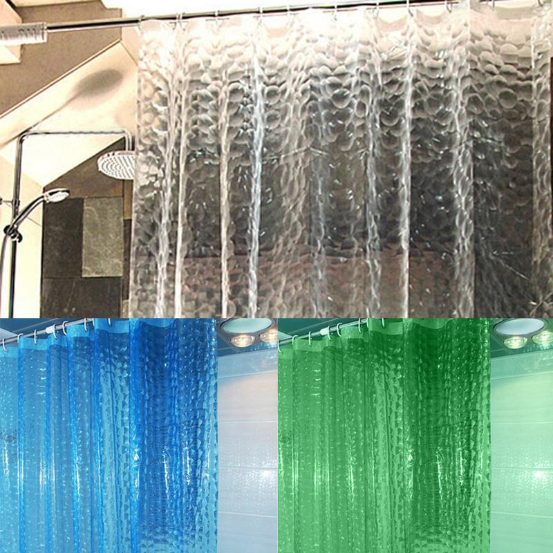 Cortina de ducha 3D impermeable EVA con 12 ganchos de baño transparente para decoración del hogar accesorios de baño 180X180 cm 180X200 cm.
