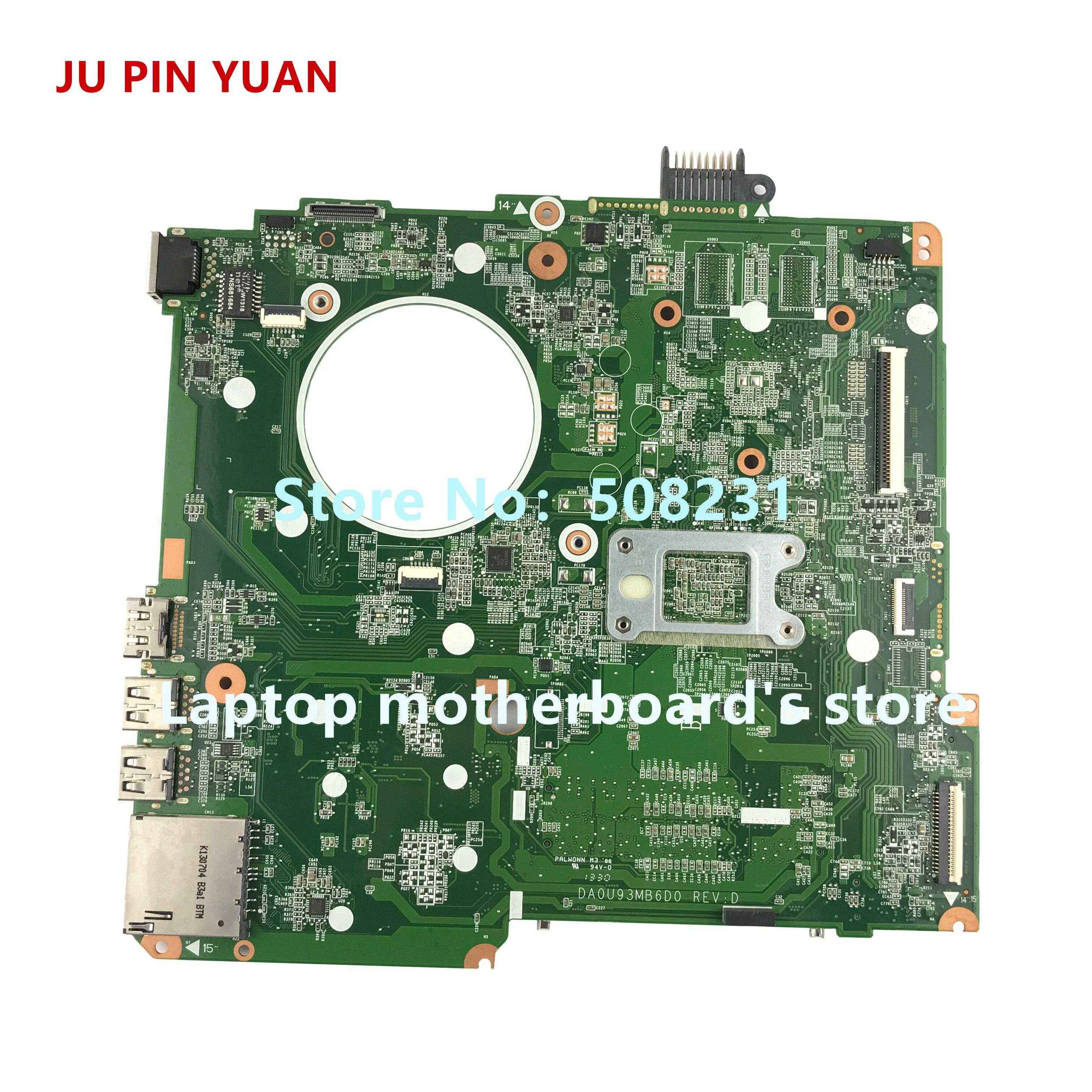 Ju pin Yuan 734827-501, 734827-001 U93 DA0U93MB6D0 para HP PAVILION 15-N 15Z-N placa base de computadora portátil con A6-5200 totalmente