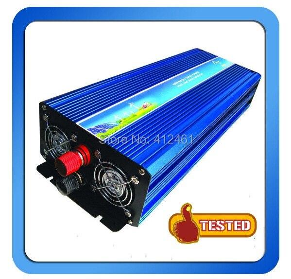 Inversor de potencia de onda sinusoidal pura de 3000W de potencia continua de envío gratis convertidor 72V DC a 100V 110V 230V 240V AC 6000 vatios pico