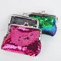 girls sequins mini buckle wallet vintage change coin purse cute childrens wallet clutch wallet pouch fashion accessories
