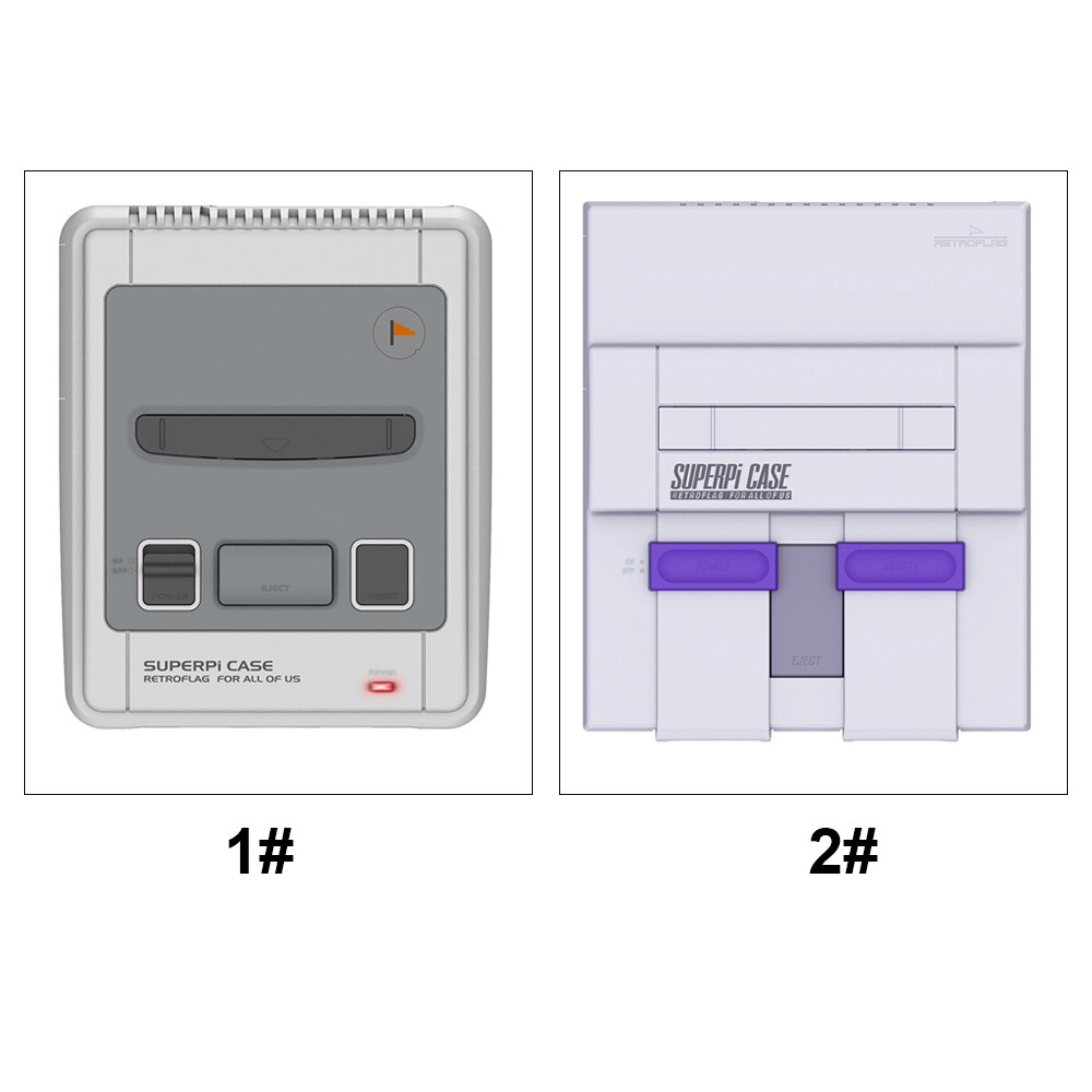 Чехол Retroflag SUPERPi чехол для видеоигр Raspberry Pi 3B + 2B Deluxe Edition с переключателем