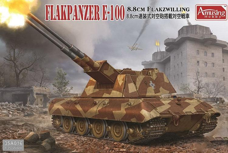Divertido Hobby 1/35 35A016 8,8 cm Flakzwilling Flakpanzer E-100