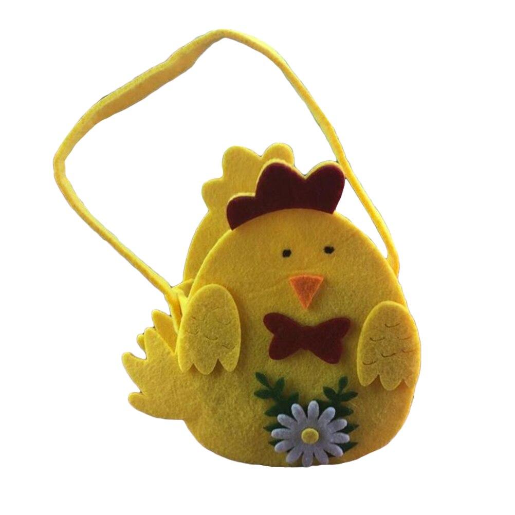 1 pc Cesta de Páscoa Pintinho Padrão Decorativo Lindo Festival Sacos de Não-tecido Saco Portátil para Ovos de Guloseimas Guloseimas Doces