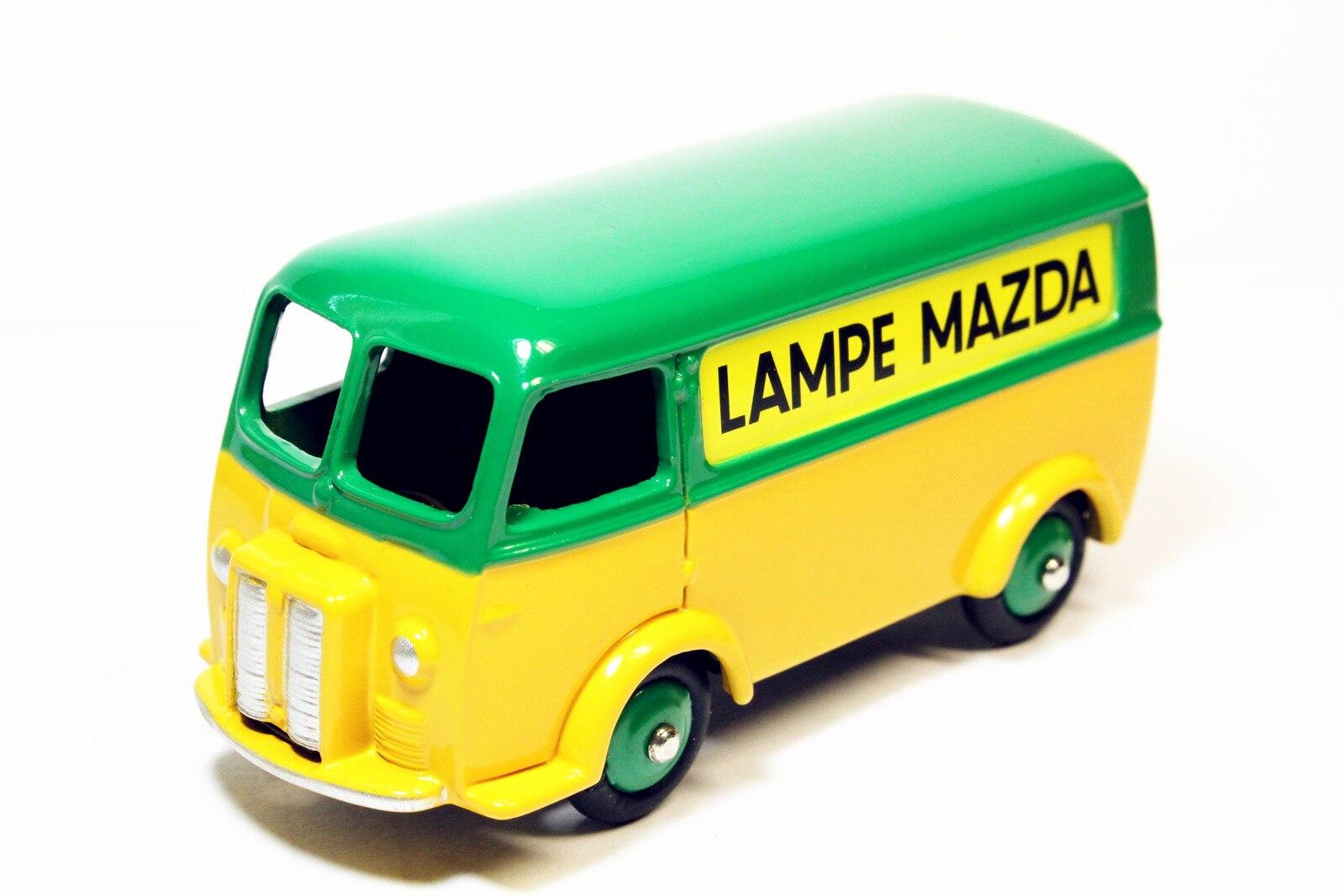 1/43 Atlas juguetes Dinky 25B Fourgon Tole Peugeot D.3.A LAMPE MAZDA