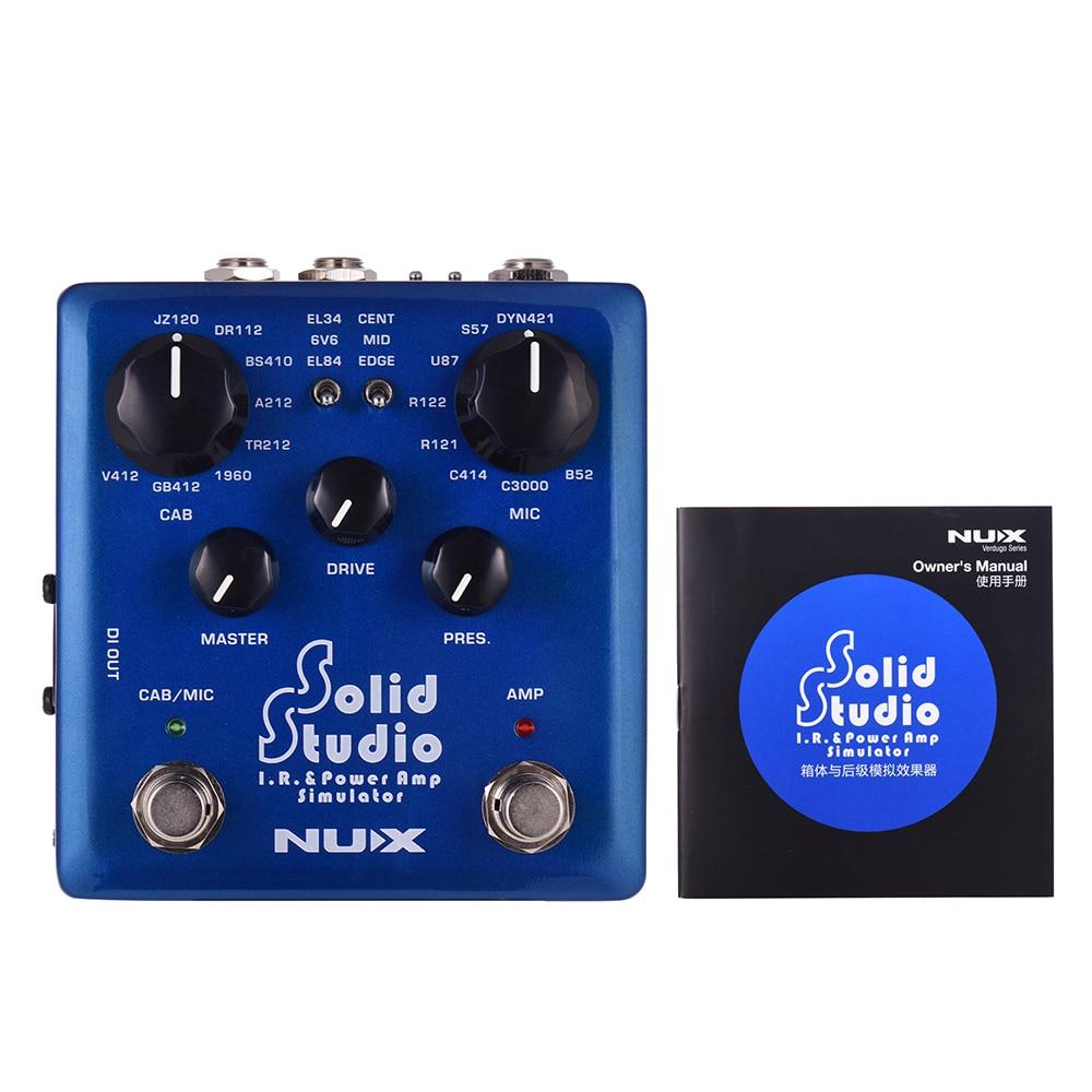 NUX Solid Studio IR & Power Amp simulador efecto de guitarra doble interruptor de pie incorporado 8 gabinete 8 micrófono True Bypass