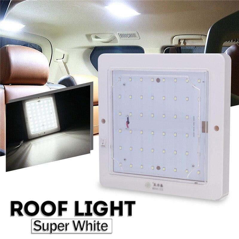 12/24V10W светодиодный купольный светильник для салона автомобиля, потолочный светильник, корпус молочного цвета, 48 светодиодов, лампа на крышу для дома на колесах, караван для кемпера, фургона, лодки