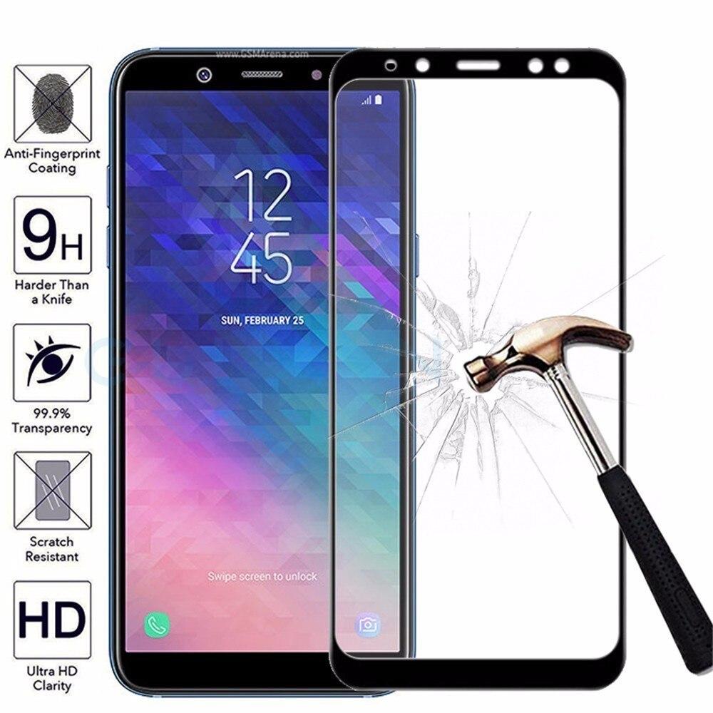 Vidrio Templado Protector 3D para Samsung Galaxy A3 A5 A7 J3 J5 J7 2017 funda completa para Samsung J4 J6 A6 A8 Plus Protector de pantalla