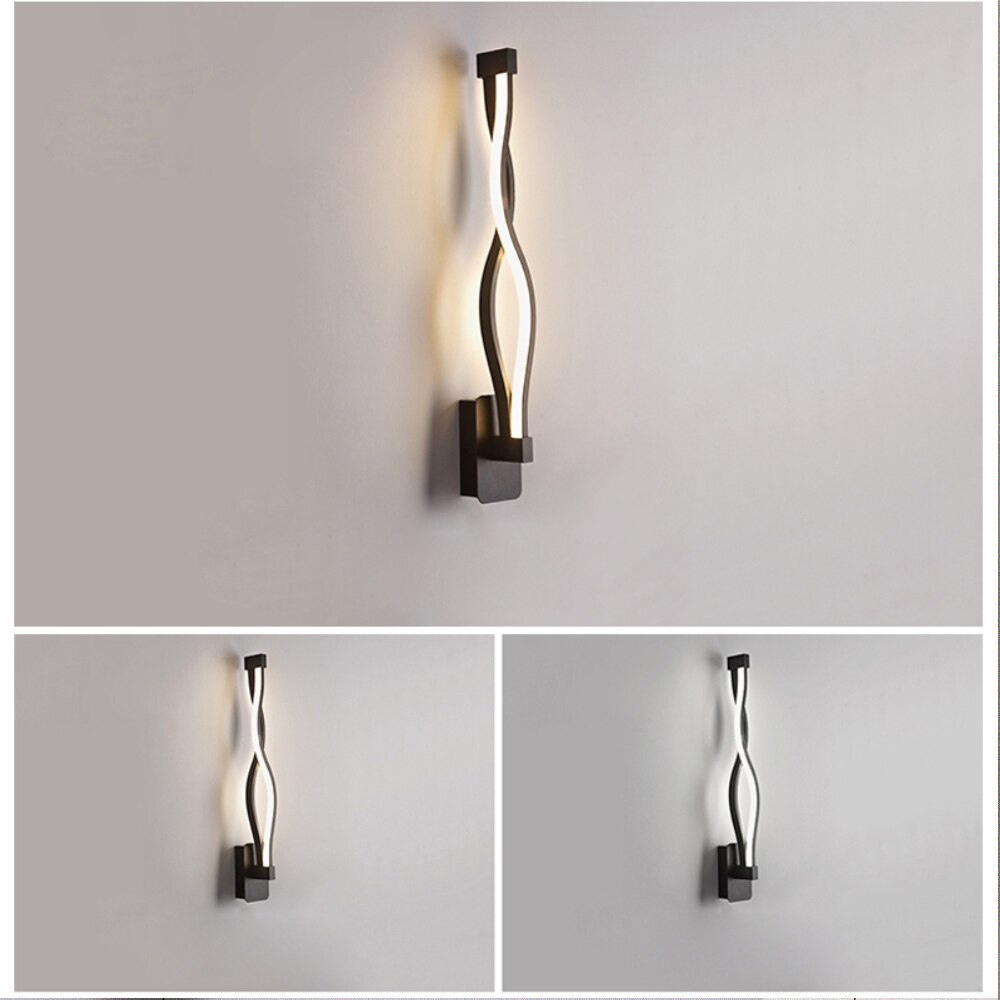 Modern artistic Wall Lamps Living Room Bedroom Bedside LED Sconce black white Lamp Aisle Lighting decoration 16W AC96V-260V  - buy with discount
