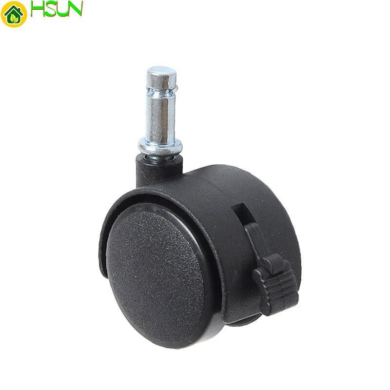 1/1. 5/2. RUEDA universal del émbolo de Nylon de 0 pulgadas con la rueda plástica de la estantería de los muebles del freno