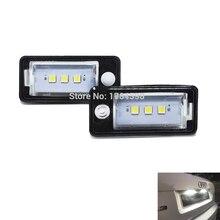 2 pcs 3SMD 5050 LED license plate luz Canbus SEM Erro para A3 S3 A4 S4 A6 C6 A8 S8 q7 RS4 Avant RS6 número da placa traseira do carro lâmpadas